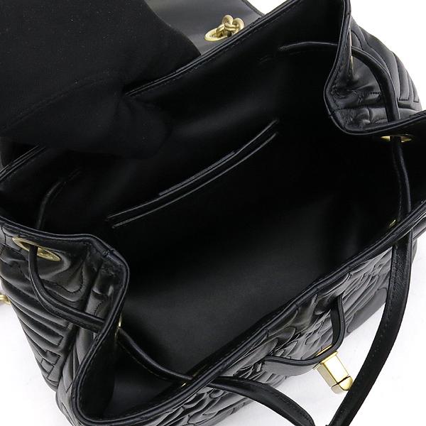 Ferragamo(페라가모) 21 H158 블랙 램스킨 금장 간치니 금장 로고 체인 백팩 [강남본점] 이미지5 - 고이비토 중고명품