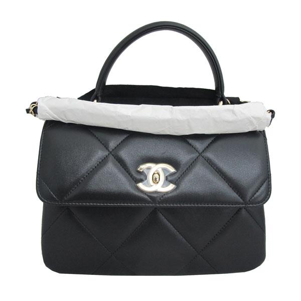 Chanel(샤넬) A92236 램스킨 블랙 컬러 퀼팅 TRENDY CC 트렌디 CC 핸들 골드메탈 금장로고 플랩 토트백 + 체인스트랩 2WAY [동대문점] 이미지2 - 고이비토 중고명품