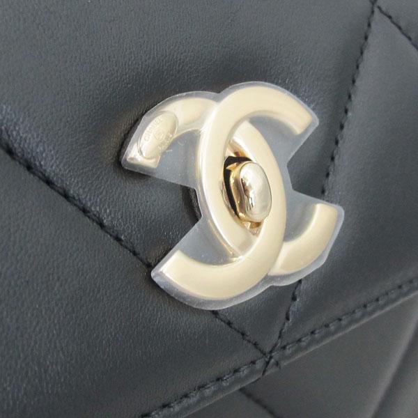 Chanel(샤넬) A92236 램스킨 블랙 컬러 퀼팅 TRENDY CC 트렌디 CC 핸들 골드메탈 금장로고 플랩 토트백 + 체인스트랩 2WAY [동대문점] 이미지4 - 고이비토 중고명품