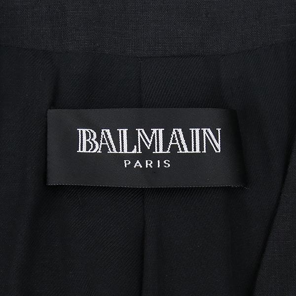 Balmain(발망) 블랙컬러 린넨 1버튼 자켓 [강남본점] 이미지4 - 고이비토 중고명품