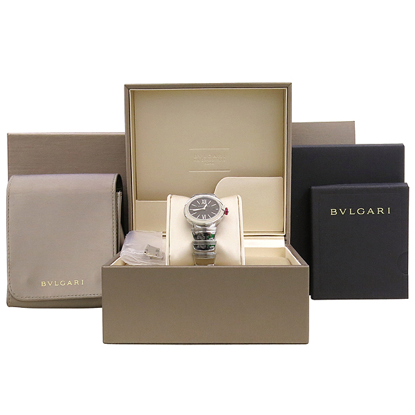 Bvlgari(불가리) LU28BSSD 블랙 다이얼 스틸 밴드 1포인트 다이아 루체아 여성용 시계 [강남본점]