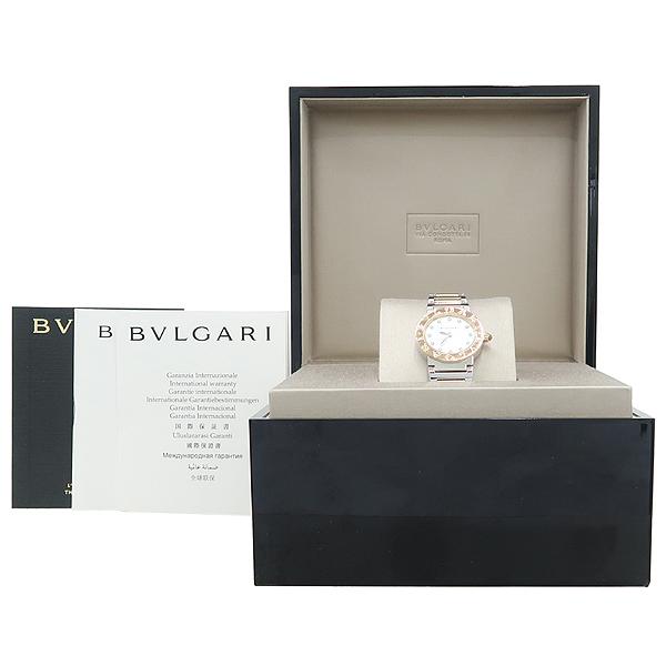 Bvlgari(불가리) BBL26WSPG BVLGARI BVLGARI 불가리불가리 쿼츠 18K옐로우골드 콤비 스틸 12포인트 다이아 자개판 다이얼 여성용시계 [강남본점]