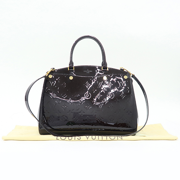 Louis Vuitton(루이비통) M50597 모노그램 베르니 아마랑뜨 브레아 MM 토트백 + 숄더스트랩 [강남본점]
