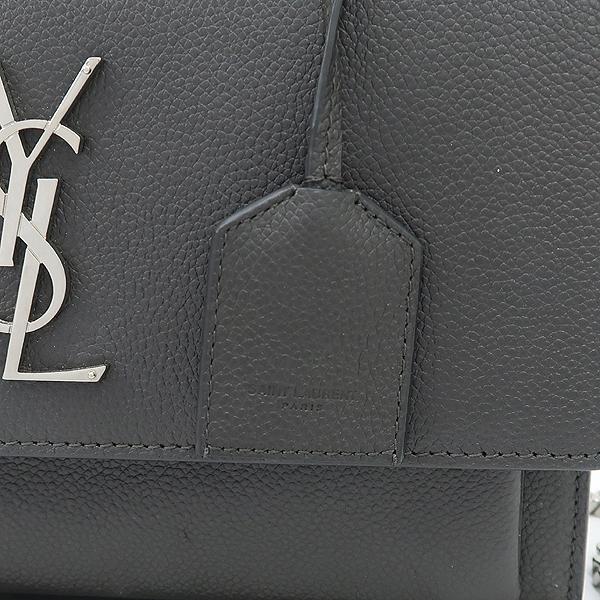 YSL(입생로랑) 442906 B680E ASPHALT 그레이 컬러 모노그램 SUNSET(선셋) M사이즈 은장 체인 숄더백 겸 크로스백 2WAY [강남본점] 이미지4 - 고이비토 중고명품