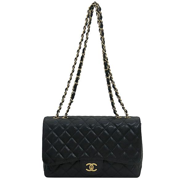 Chanel(샤넬) A28600 캐비어 스킨 블랙컬러 클래식 점보 L사이즈 금장로고 체인 원 플랩 숄더백 [부산센텀본점] 이미지2 - 고이비토 중고명품