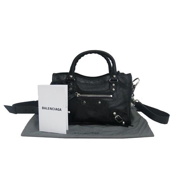Balenciaga(발렌시아가) 300295 은장 스터드 블랙 빈티지 컬러 미니 시티 토트백 + 숄더스트랩 2WAY [동대문점]