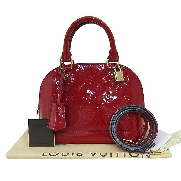 Louis Vuitton(루이비통) M90174 모노그램 레드 컬러 베르니 알마 BB 토트백 + 숄더스트랩 2WAY [부산센텀본점]