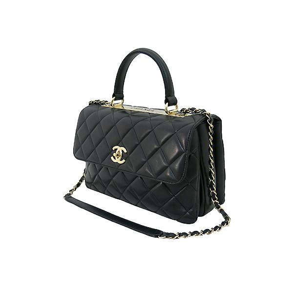 Chanel(샤넬) A69923 블랙 컬러 램스킨 클래식 COCO 금장로고 트렌디 CC M(미듐) 탑핸들 2WAY [부산센텀본점] 이미지3 - 고이비토 중고명품