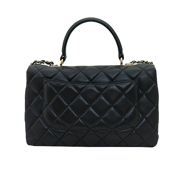 Chanel(샤넬) A69923 블랙 컬러 램스킨 클래식 COCO 금장로고 트렌디 CC M(미듐) 탑핸들 2WAY [부산센텀본점] 이미지4 - 고이비토 중고명품