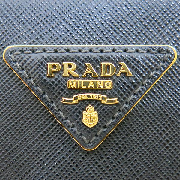 Prada(프라다) B1786T 블랙 레더 사피아노 럭스 금장 삼각 로고 토트백 + 숄더스트랩 2WAY [부산센텀본점] 이미지4 - 고이비토 중고명품