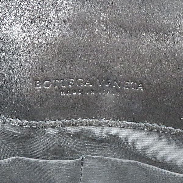 BOTTEGAVENETA(보테가베네타) 406021 블랙 레더 인트레치아토 도큐먼트 케이스 클러치 [부산서면롯데점] 이미지4 - 고이비토 중고명품