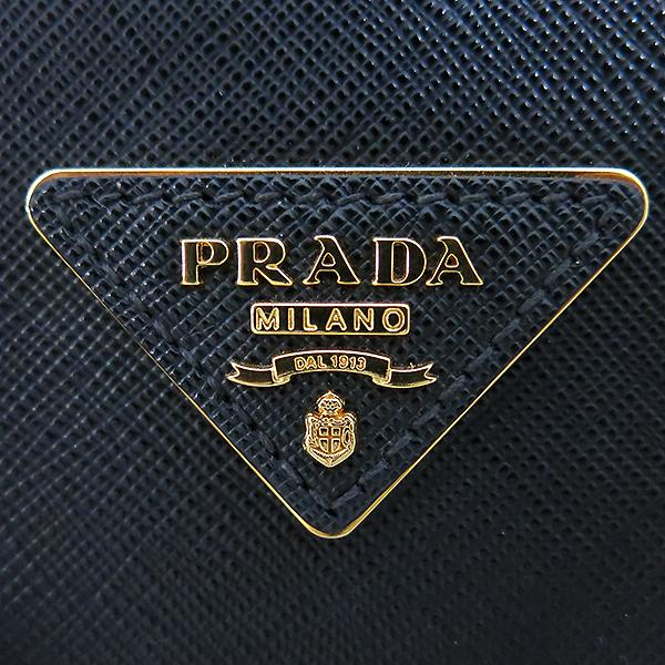 Prada(프라다) 1BA896 블랙 사피아노 럭스 S사이즈 토트백+숄더스트랩 [부산센텀본점] 이미지4 - 고이비토 중고명품
