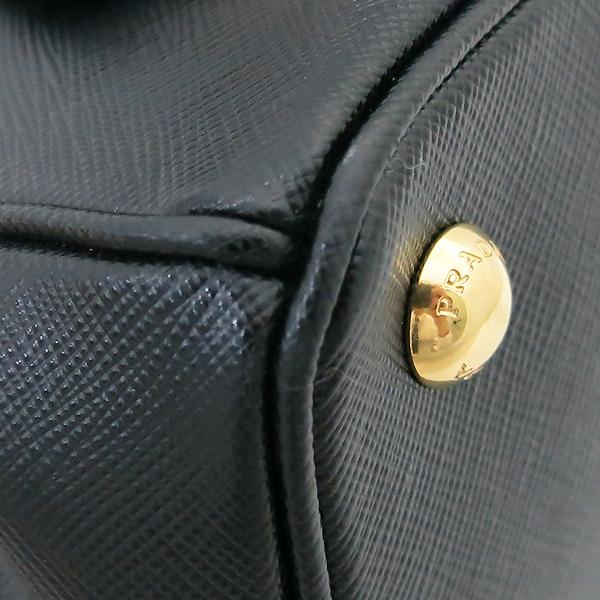 Prada(프라다) 1BA896 블랙 사피아노 럭스 S사이즈 토트백+숄더스트랩 [부산센텀본점] 이미지5 - 고이비토 중고명품