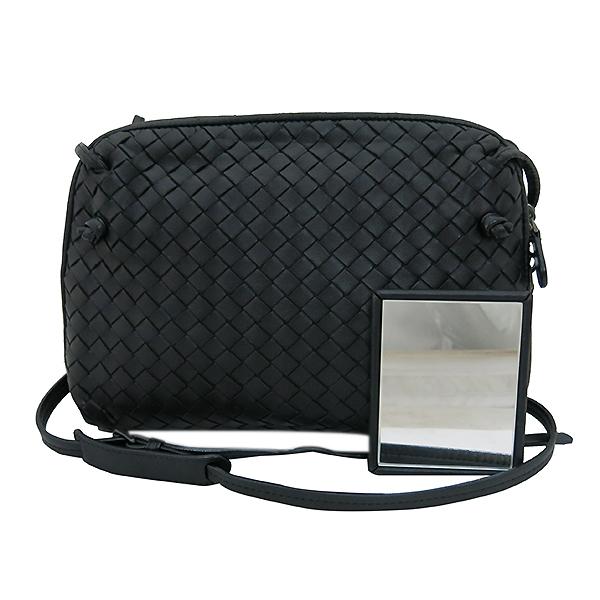 BOTTEGAVENETA (보테가베네타) 245354 블랙 컬러 인트레치아토 크로스백 +보조거울 [부산센텀본점]