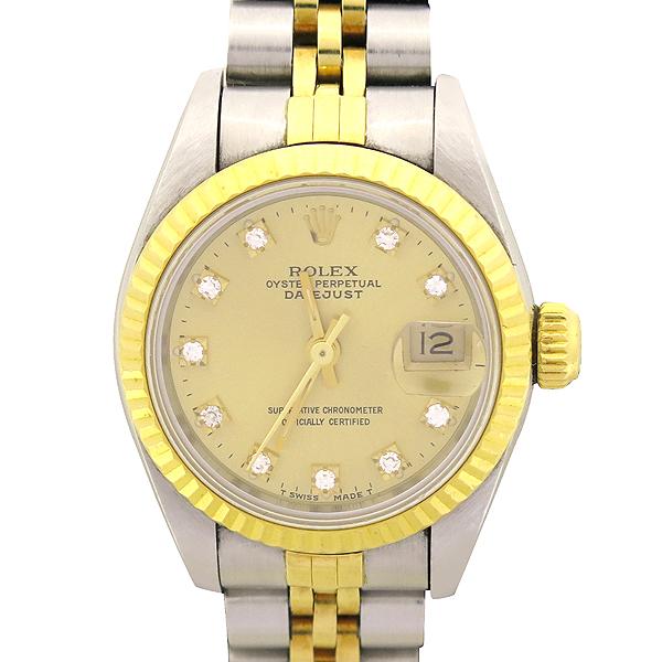 Rolex(로렉스) 69173 18K 콤비 DATE JUST(데이트 저스트) 10포인트 다이아(옵션) 여성용 시계 [강남본점]