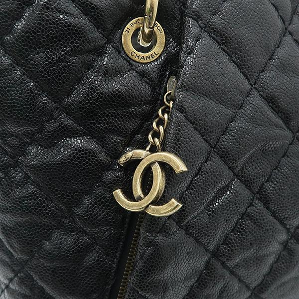 Chanel(샤넬) 블랙 캐비어 금장 COCO 참장식 체인 숄더백 [강남본점] 이미지4 - 고이비토 중고명품