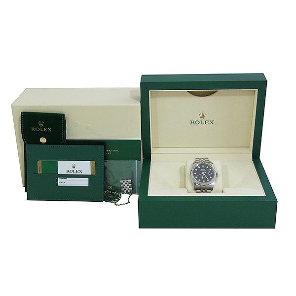 Rolex(로렉스) 116234 DATE JUST 데이트저스트 36MM 블랙 다이얼 10포인트 다이아 스틸 쥬빌레 브레이슬릿 남성용 시계 [대구동성로점]