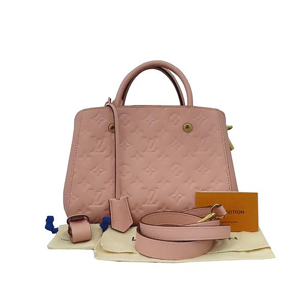 Louis Vuitton(루이비통) M44123 모노그램 앙프렝뜨 로즈 파우더(Rose Poudre) 몽테뉴 BB 미니 토트백 + 스트랩 2WAY [대구황금점]