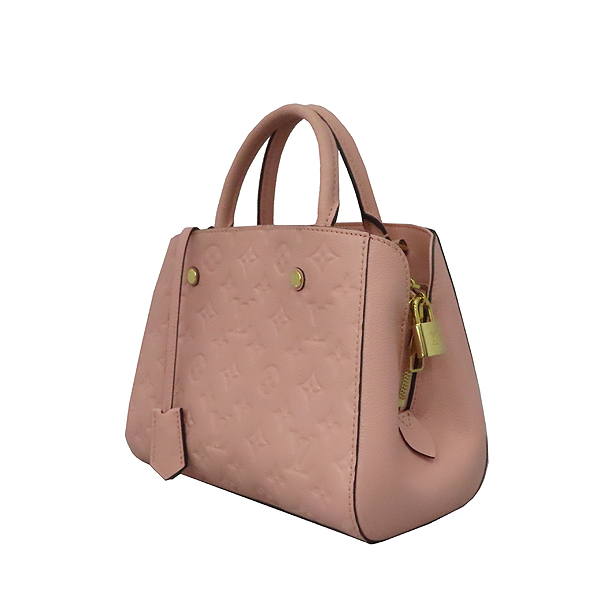 Louis Vuitton(루이비통) M44123 모노그램 앙프렝뜨 로즈 파우더(Rose Poudre) 몽테뉴 BB 미니 토트백 + 스트랩 2WAY [대구황금점] 이미지3 - 고이비토 중고명품