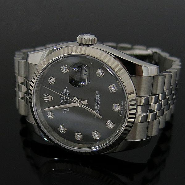 Rolex(로렉스) 116234 DATE JUST 데이트저스트 36MM 블랙 다이얼 10포인트 다이아 스틸 쥬빌레 브레이슬릿 남성용 시계 [대구동성로점] 이미지3 - 고이비토 중고명품
