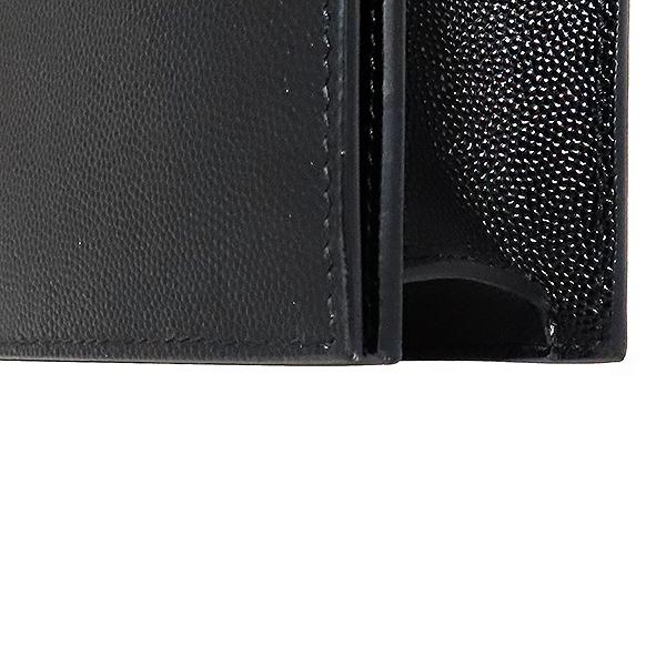 SAINTLAURENT PARIS(생로랑파리) 400409 금장 로고 장식 클래식 모노그램 블랙 레더 클러치백 [대전본점] 이미지5 - 고이비토 중고명품