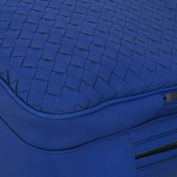BOTTEGAVENETA (보테가베네타) 493805 블루 컬러 인트레치아토 토르말린 나파 백팩 [동대문점] 이미지5 - 고이비토 중고명품