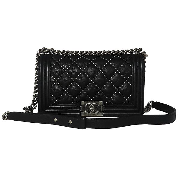 Chanel(샤넬) A67086 블랙 램스킨 보이샤넬 S사이즈 빈티지 체인 숄더백 [대전본점] 이미지2 - 고이비토 중고명품