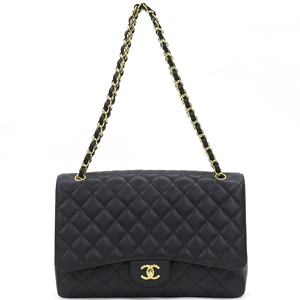 Chanel(샤넬) A47600Y01588 캐비어스킨 블랙 클래식 맥시 사이즈 금장 체인 숄더백 [강남본점] 이미지2 - 고이비토 중고명품