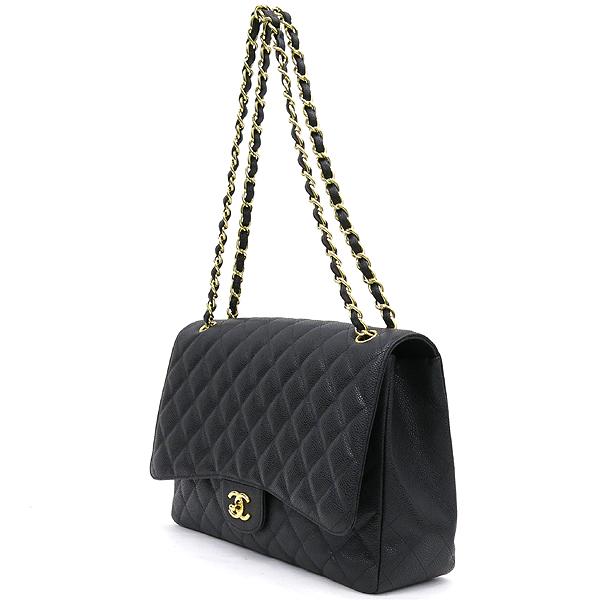 Chanel(샤넬) A47600Y01588 캐비어스킨 블랙 클래식 맥시 사이즈 금장 체인 숄더백 [강남본점] 이미지3 - 고이비토 중고명품