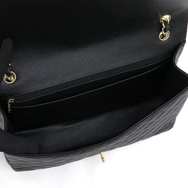 Chanel(샤넬) A47600Y01588 캐비어스킨 블랙 클래식 맥시 사이즈 금장 체인 숄더백 [강남본점] 이미지5 - 고이비토 중고명품