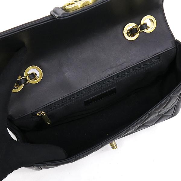 Chanel(샤넬) 샤넬 블랙 램스킨 COCO 금장 로고 체인 원플랩 숄더백 [강남본점] 이미지5 - 고이비토 중고명품