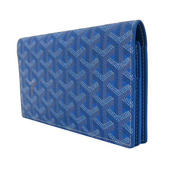 GOYARD(고야드) RICHLIEU(리슐리유) 스페셜 블루 컬러 PVC 레더 장지갑 [부산센텀본점] 이미지3 - 고이비토 중고명품