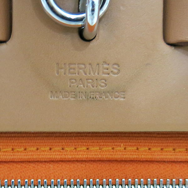 Hermes(에르메스) 에르라인 오렌지 패브릭 브라운 레더 에르짚 에르백 PM 2WAY + 보조파우치 [부산센텀본점] 이미지7 - 고이비토 중고명품