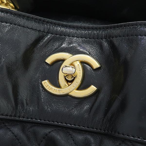 Chanel(샤넬) 시즌컬렉션 IN THE MIX(인더믹스) 램스킨 블랙컬러 퀼팅 스티치 금장 체인 2WAY [강남본점] 이미지4 - 고이비토 중고명품