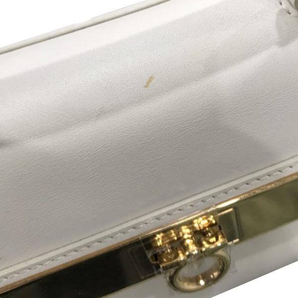 Ferragamo(페라가모) 21 F086 오프화이트 금장 간치니 버클 장식 미니 토트백 + 숄더 스트랩 [대구반월당본점] 이미지7 - 고이비토 중고명품