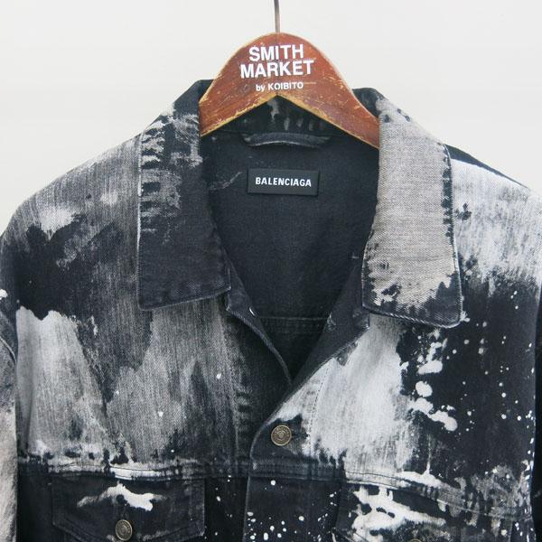 Balenciaga(발렌시아가) 557648TXE03 블랙 컬러 페인트 스테인 남성용 데님 자켓 [동대문점] 이미지2 - 고이비토 중고명품