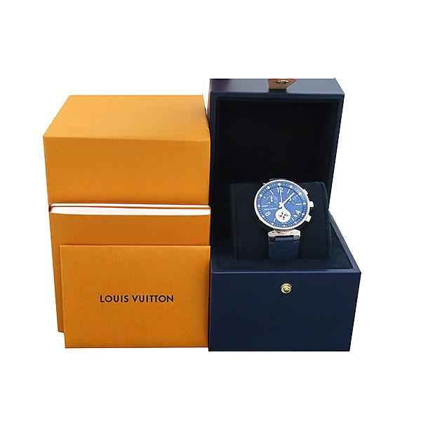 Louis Vuitton(루이비통) QA034Z TAMBOUR(땅부르) 39MM 문스타 블루 크로노그래프 러버밴드 쿼츠 시계 [부산서면롯데점]