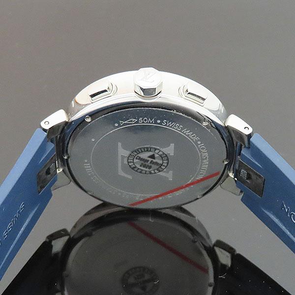 Louis Vuitton(루이비통) QA034Z TAMBOUR(땅부르) 39MM 문스타 블루 크로노그래프 러버밴드 쿼츠 시계 [부산서면롯데점] 이미지4 - 고이비토 중고명품