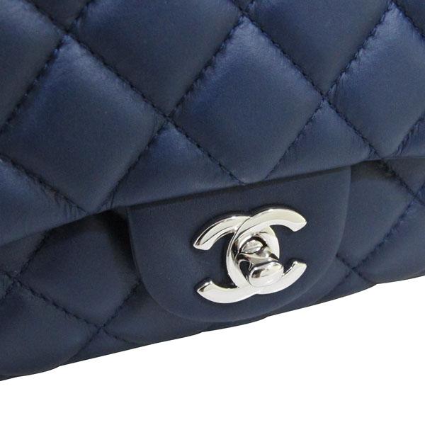 Chanel(샤넬) A94049 네이비 램스킨 클래식 3 트리오 M사이즈 은장 체인 숄더백 [대구반월당본점] 이미지5 - 고이비토 중고명품