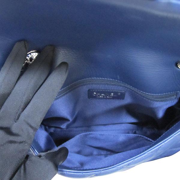 Chanel(샤넬) A94049 네이비 램스킨 클래식 3 트리오 M사이즈 은장 체인 숄더백 [대구반월당본점] 이미지7 - 고이비토 중고명품