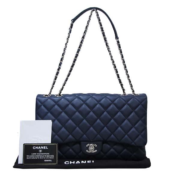Chanel(샤넬) A94049 네이비 램스킨 클래식 3 트리오 M사이즈 은장 체인 숄더백 [대구반월당본점]