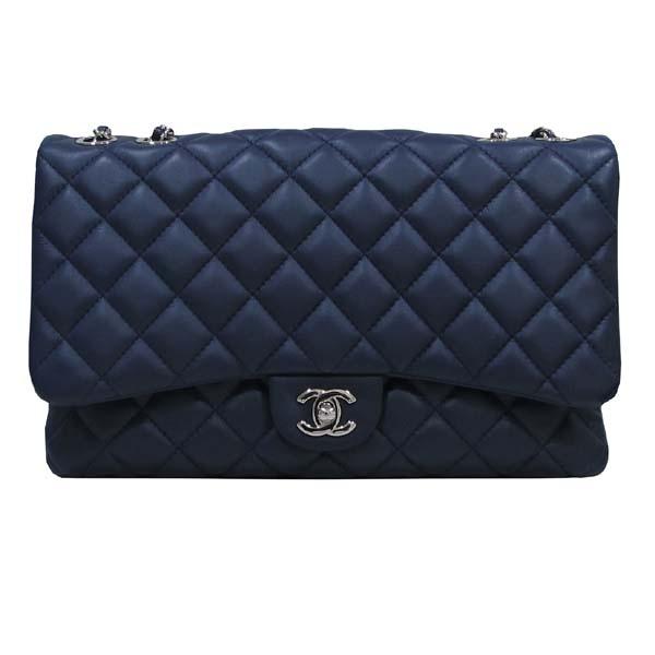 Chanel(샤넬) A94049 네이비 램스킨 클래식 3 트리오 M사이즈 은장 체인 숄더백 [대구반월당본점] 이미지2 - 고이비토 중고명품