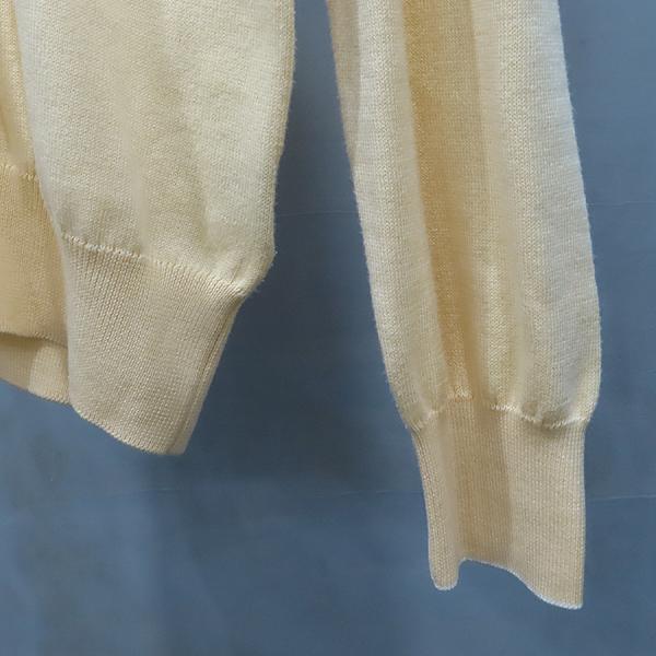 Zegna(제냐) 옐로우 컬러 면 혼방 브이넥 남성용 니트 [인천점] 이미지3 - 고이비토 중고명품