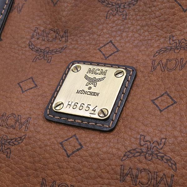 MCM(엠씨엠) 1010085051122 금장 로고 장식 브라운 컬러 쇼퍼 숄더백 + 보조 파우치 [강남본점] 이미지4 - 고이비토 중고명품