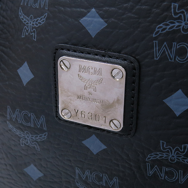 MCM(엠씨엠) 1010089650322 블랙 비세토스 쇼퍼 숄더백 [강남본점] 이미지4 - 고이비토 중고명품