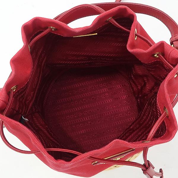 Prada(프라다) 1BH115 레드 컬러 미니 버킷 숄더백 [강남본점] 이미지5 - 고이비토 중고명품