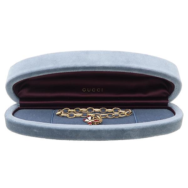 Gucci(구찌) 18K 골드 11포인트 다이아 잠자리 플라워 체인 팔찌 [강남본점]