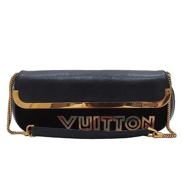 Louis Vuitton(루이비통) M97093 블랙 스웨이드 레더 한정판 금장 체인 로고 장식 이브닝 아방가르드 클러치 겸 숄더백 [인천점] 이미지2 - 고이비토 중고명품