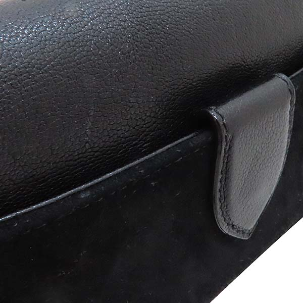 Louis Vuitton(루이비통) M97093 블랙 스웨이드 레더 한정판 금장 체인 로고 장식 이브닝 아방가르드 클러치 겸 숄더백 [인천점] 이미지4 - 고이비토 중고명품