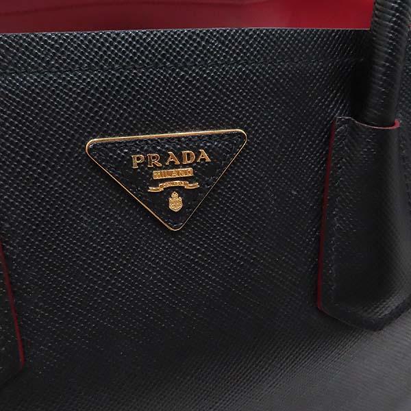 Prada(프라다) B2756T SAFFIANO CUIR NERO 사피아노 블랙 두블레 금장로고 토트백 + 숄더스트랩 2WAY [인천점] 이미지4 - 고이비토 중고명품